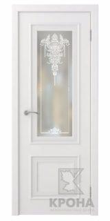 Премьер-2 белая эмаль, дверь со стеклом