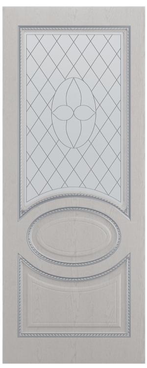 Леском Неаполь Серый ясень/Серебро Со стеклом